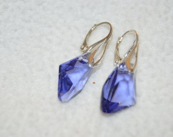 Swarovski Amethyst Galatic Pendant Earrings