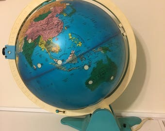1980's fisher price light up discovery globe
