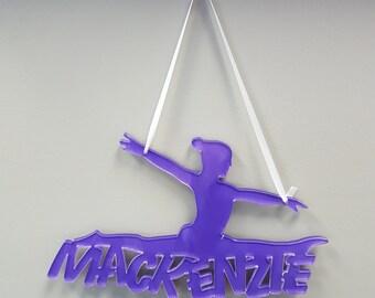 Gymnastics Wall Art Gymnastics Custom Acrylic Art  12 Colors to Choose From Custom Name