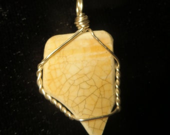 Handmade Genuine Ocean Tumbled Pottery Fragment Pendant