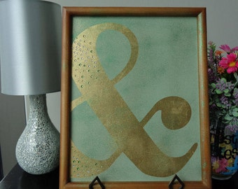 Ampersand Wall Decor ampersand wall decor | etsy