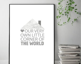 Our very own little corner of the World Print