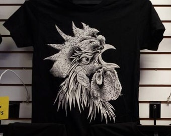 Screaming Rooster Tattoo T-shirt
