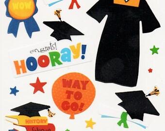 Graduation Sticko  Scrapbook Stickers Embellishments Cardmaking Crafts