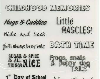 Children Baby Boy Girl Vellum Quotes Forever In Time Scrapbook Embellishments Cardmaking Crafts