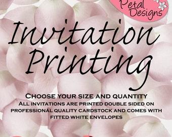 5x7 Invitation Printing, Invite Print, Cardstock Printing