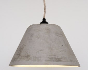 Conical Concrete Pendant Lampshade