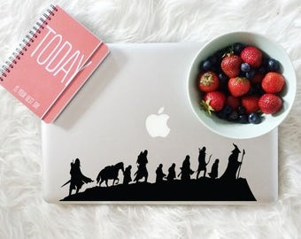 Lord of the Rings decal, Caravan decal for laptop, car, macbook, wall 90