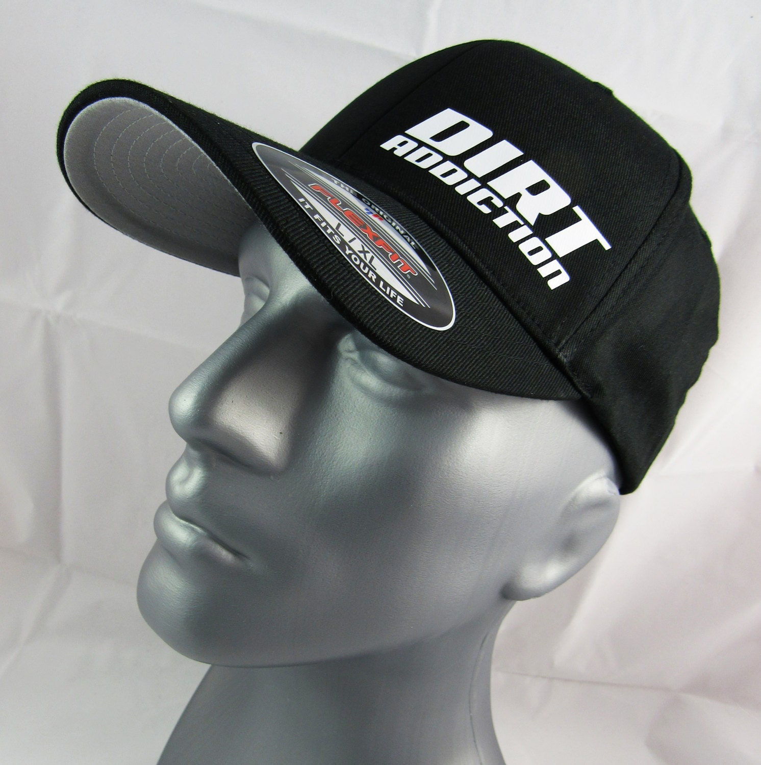 Dirt Addiction Fitted Flex-fit Hat Dirt Track Racing Race