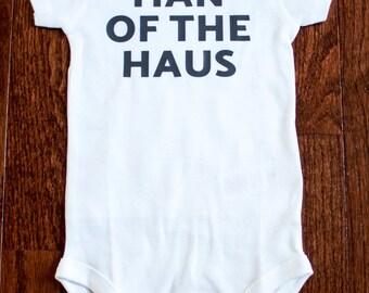Man of the Haus Onesie, Pittsburgh Onesie, Pittsburghese Onesie, Yinzer Onesie, Pittsburgh Baby Gift, Pittsburghese