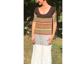 Upcycled recycled repurposed eco-friendly maxi dress earthy hippie boho refashioned reclaimed redeemed