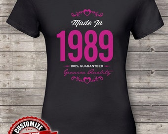Made in 1989 Guaranteed, 29th birthday gifts for women, 29th birthday gift, 29th birthday tshirt, gift for 29th Birthday Party