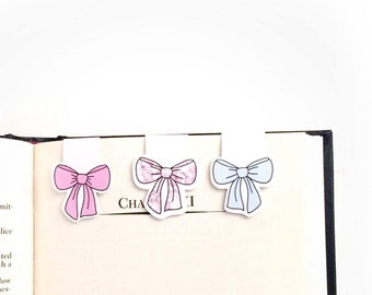 Cute Bow Set of  Magnetic Bookmarks/Planner Clips