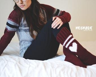 Varsity Love Socks PDF Crochet Pattern