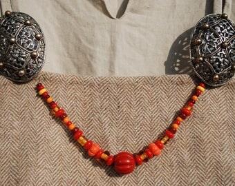 Viking Re-enactment Glass Beads, Necklace, Festoon