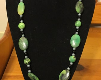 Green Chrysoprase necklace