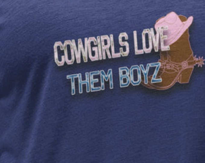 Cowgirls love them boys football shirt, country girls love the cowboys,