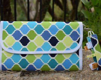 Diaper Clutch/Diaper Bag/Diaper Purse/Changing Pad/Sensory Toy/Baby Shower Gift/Minimalist/Wristlet/Pad-a-Pack - FlorieKay
