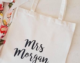 Mrs Tote Bag / Bride Tote Bag / Wedding Bag