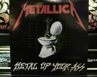 RARE: METALLICA - Metal Up Your Ass - Red Colored Vinyl Record - French LP Import - Great Gift!