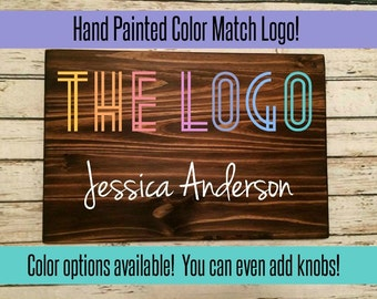 Handpainted Custom Consultant Wood Sign- Approved colors!