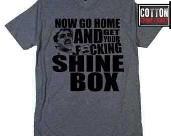 Now go home & and get your shine box Goodfellas Billy Batts Joe Pesci The Godfather 2 II 3 Donnie Brasco mob mafia v neck crew t Shirt tee