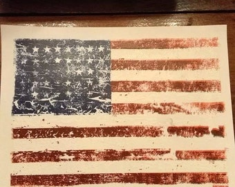 Distressed American Flag T-shirt Adults