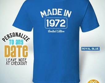 Made in Limited Edition 1972, 46th birthday gifts for women, 46th birthday gift, 46th birthday tshirt, gift for 46th Made in Stamp,