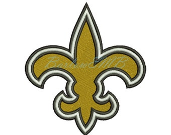 5 Size New Orleans Saints Logo Embroidery Designs Instant Download 7 Formats machine embroidery pattern