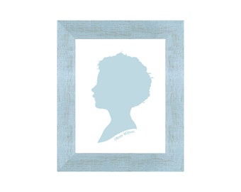Wall Sized Silhouette Portrait with Frame • Custom Made and Ready to Hang