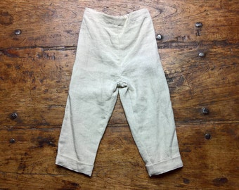 Cream Trousers 'Oliver Twist', pure linen