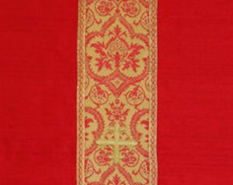Chalice Veil, Red Silk Dupioni