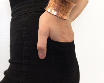Hammered Copper Cuff // 100% of proceeds will be donated to Save the children