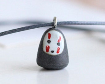 Hand-painted bracelet Kaonashi (no face) in ceramic • Miyazaki • • Spirited away • Studio Ghibli spirited away travel