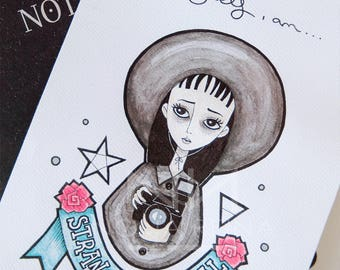Print of my Lydia Deetz illustration. Beetlejuice