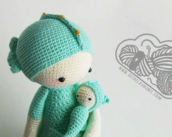 Sepp seahorses snowman crochet made with Lalylala pattern