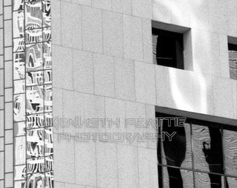 Modern black and white architectural photography. San Francisco print #6.
