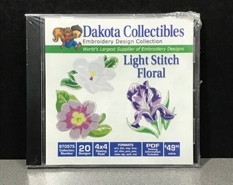 Dakota Collectibles Light Stitch Floral Embroidery CD