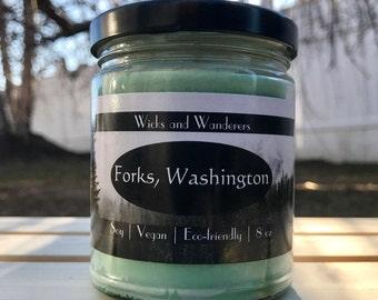 Forks, Washington- Soy Wax Candle