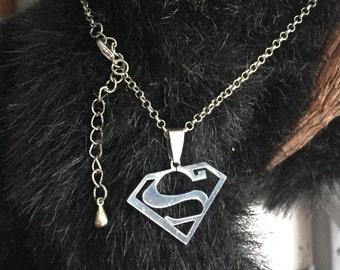 Superman Pendant Necklace
