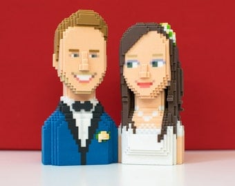 Wedding: Figurine unique 3D art with your image - cake, gifts, decoration!