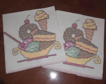 Ice cream dishtowels