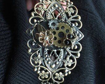 Filigree steampunk bracelet
