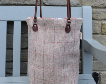 Harris Tweed Tote Knitting/Shopping Bag