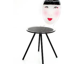 Acrylic Asian Geisha Style Chair Mme Fuki
