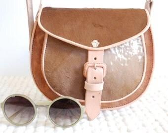 Leather Purse Leather Crossbody Shoulder Handbag Bag Casual Genuine Handmade Handcrafted Vintage Tan New