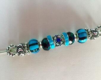Pandora Style European Charm Bracelet