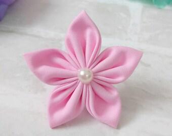 Flower Hair Clips - Flower Hair Bobble - kanzashi flower - hair accessories - fabric flowers - brooch - handmade - hair clips - hair bows