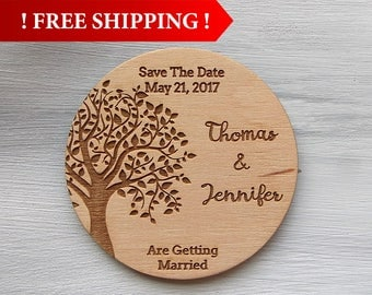 Free Shipping! Wedding Invitation Custom Magnets Wedding Save the Date Magnet Rustic Wedding Wedding Save the Date Wedding Invitation Set