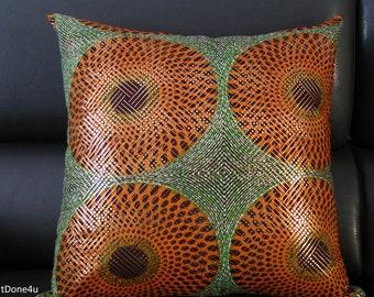 Cushion cover, Accent Cushion, ANKARA, African Wax print Cushion (100% Cotton)